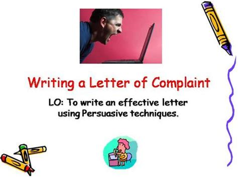Free Sample Complaint Letter to a business Georgia